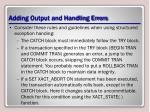 adding output and handling errors1