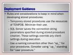 deployment guidance
