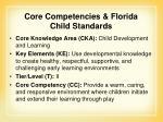 core competencies florida child standards