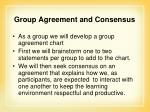 group agreement and consensus