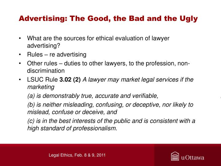Advertising: The Good, the Bad and the Ugly