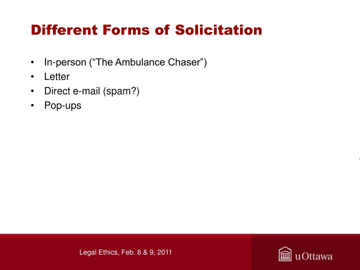 Different Forms of Solicitation