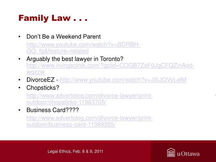 Family Law . . .
