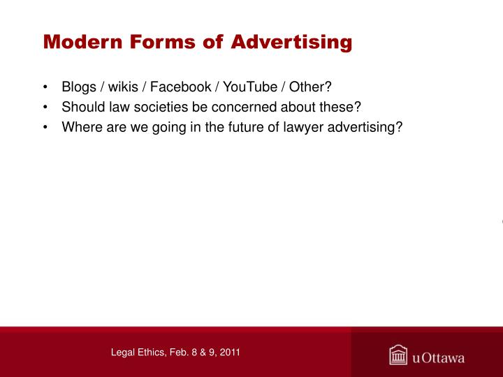 Modern Forms of Advertising