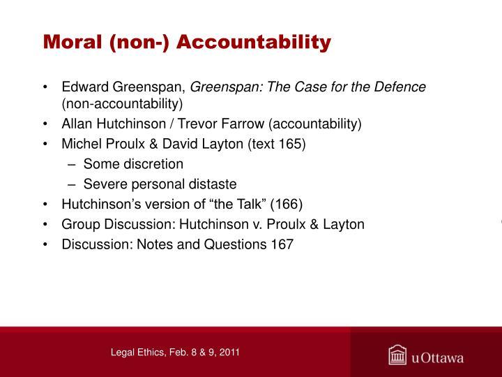 Moral (non-) Accountability