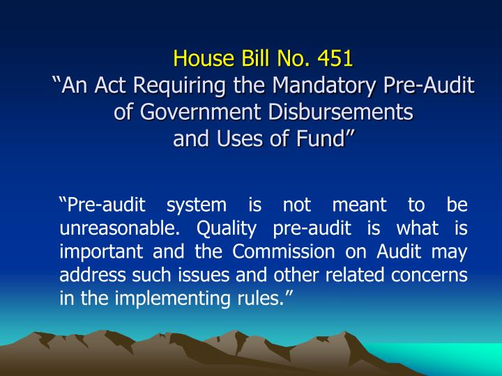 House Bill No. 451