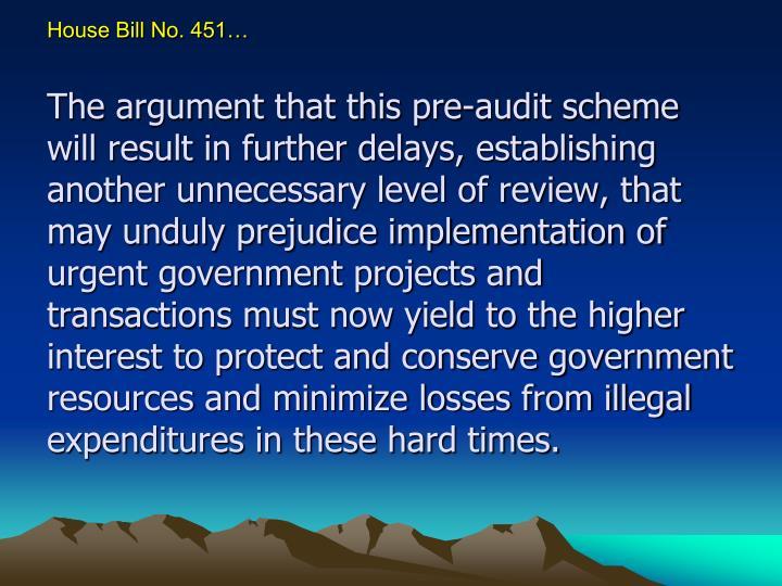House Bill No. 451…
