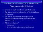 local branch national coa interaction communication liaison1