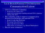 local branch national coa interaction communication liaison3