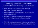 running a local coa branch common problems faced by local branches