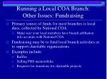 running a local coa branch other issues fundraising