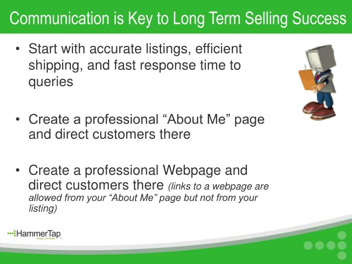Communication is Key to Long Term Selling Success
