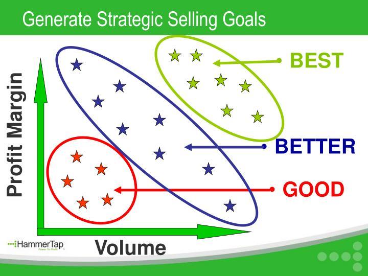 Generate Strategic Selling Goals