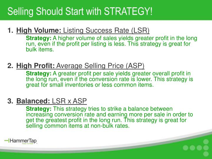Selling Should Start with STRATEGY!