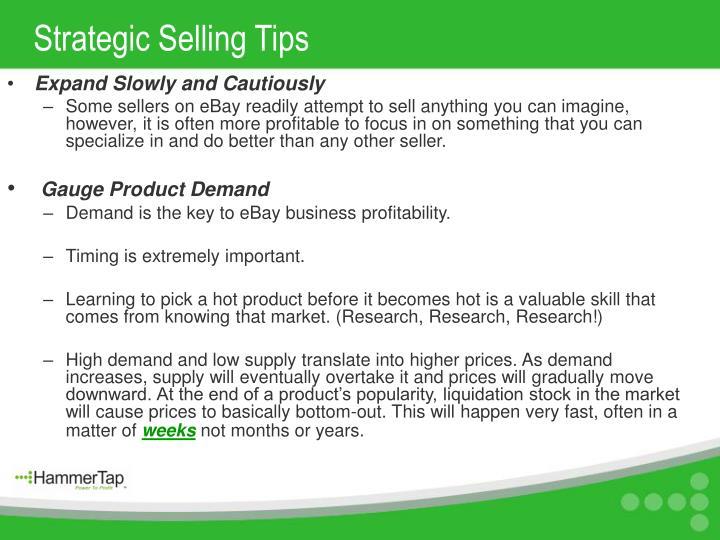 Strategic Selling Tips