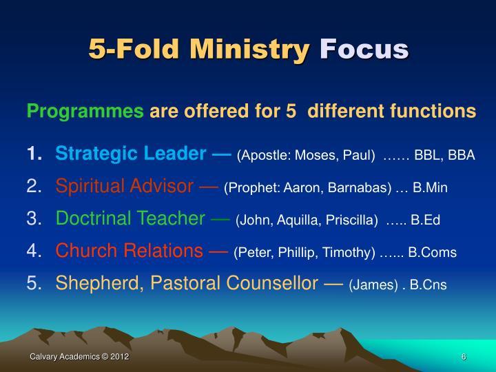 5-Fold Ministry