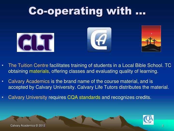 Co-operating with …
