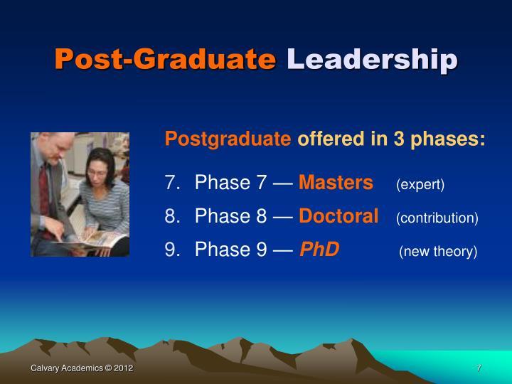 Post-Graduate