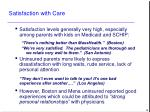 satisfaction with care