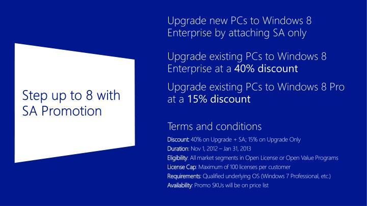 Step up to 8 with SA Promotion