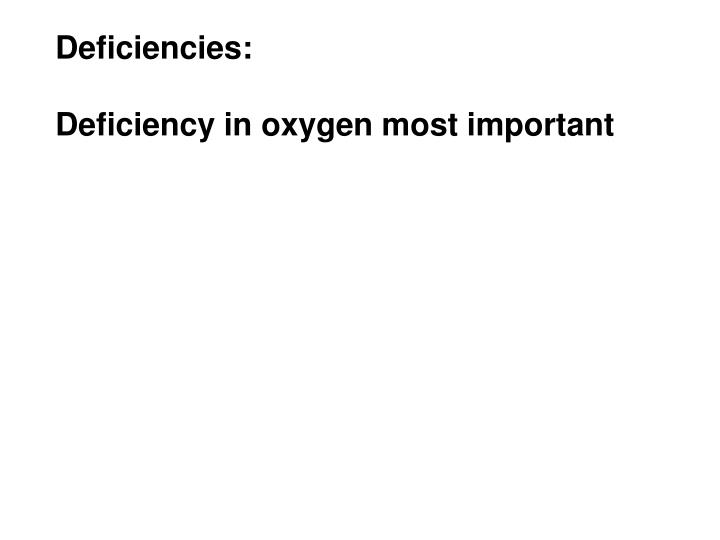 Deficiencies: