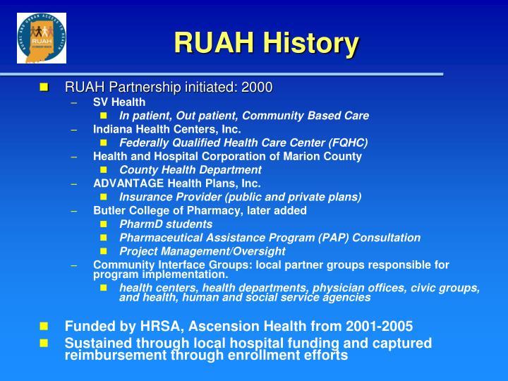 RUAH History