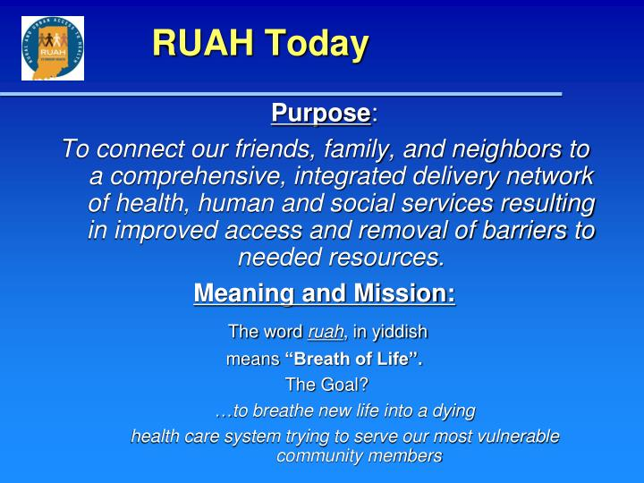 RUAH Today