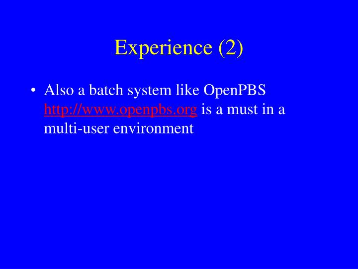 Experience (2)