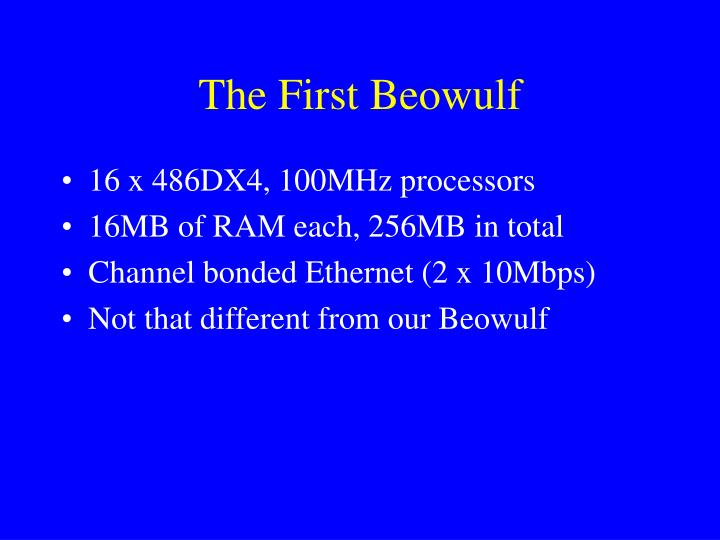 The First Beowulf