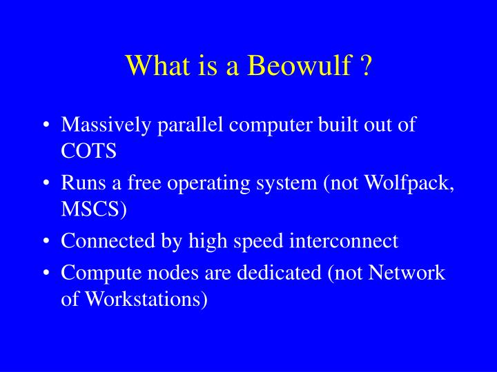 What is a Beowulf ?