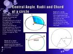 central angle radii and chord of a circle