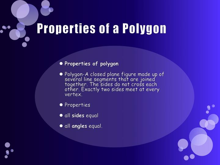 Properties of a Polygon