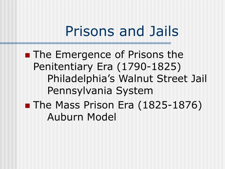 Prisons and jails1