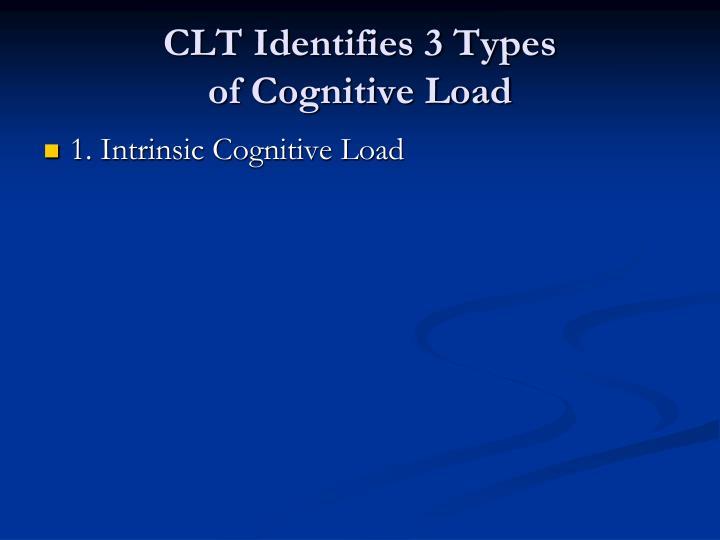 CLT Identifies 3 Types