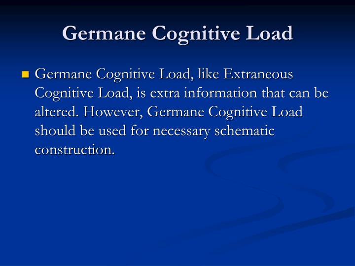 Germane Cognitive Load