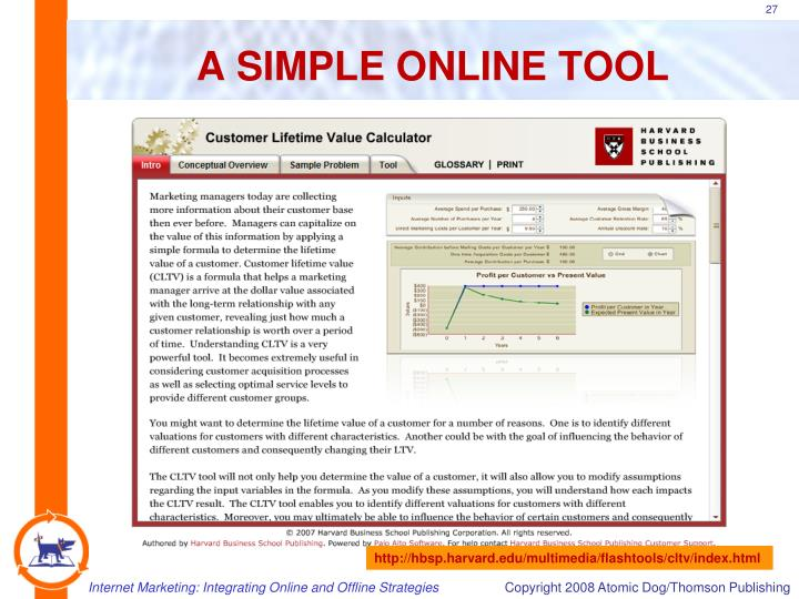 A SIMPLE ONLINE TOOL