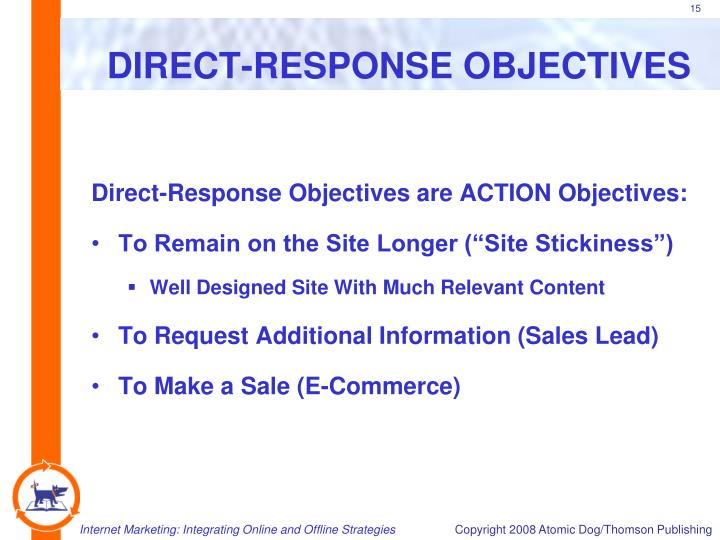 DIRECT-RESPONSE OBJECTIVES