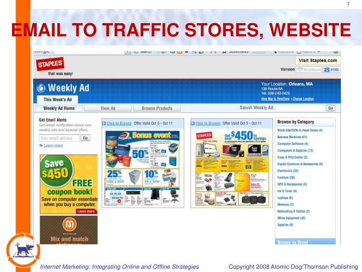 EMAIL TO TRAFFIC STORES, WEBSITE
