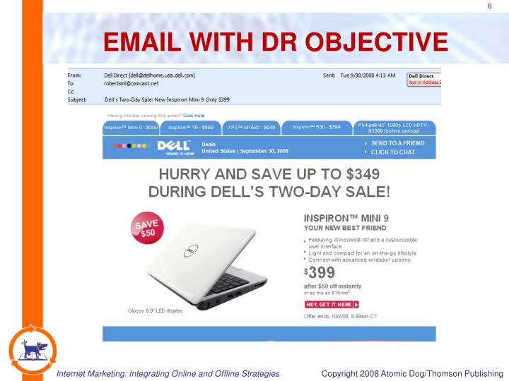 EMAIL WITH DR OBJECTIVE