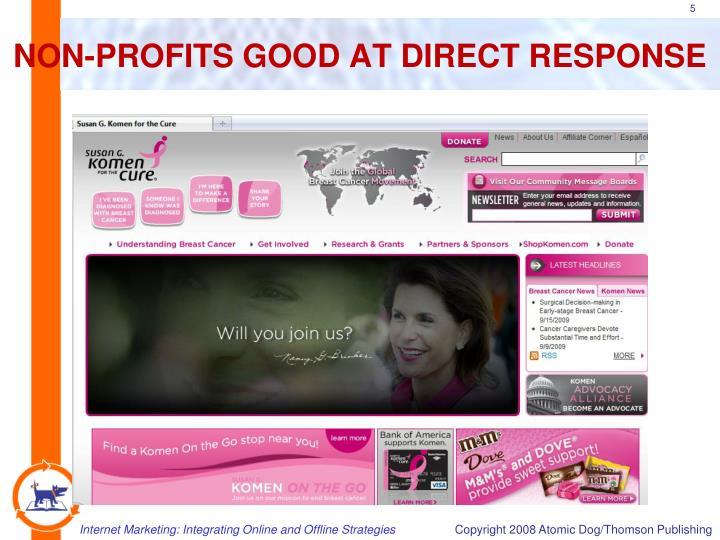 NON-PROFITS GOOD AT DIRECT RESPONSE