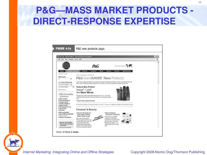 P&G—MASS MARKET PRODUCTS -  DIRECT-RESPONSE EXPERTISE