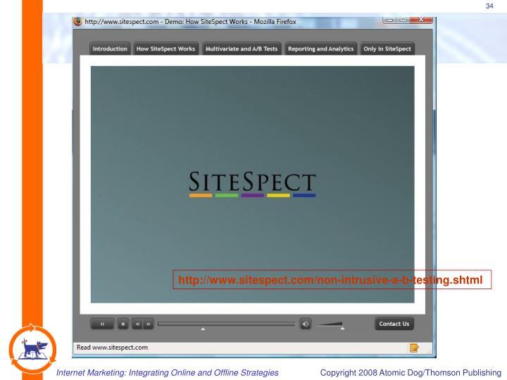 http://www.sitespect.com/non-intrusive-a-b-testing.shtml