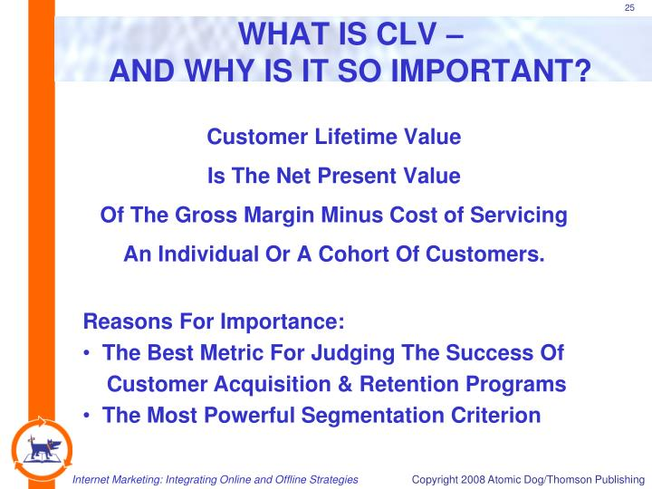 WHAT IS CLV –