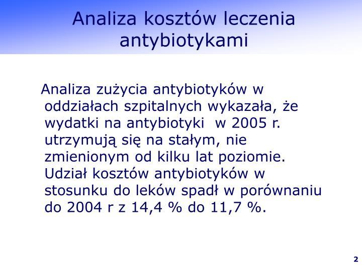 Analiza kosztów leczenia antybiotykami