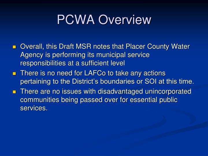 PCWA Overview