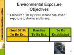 environmental exposure objectives3