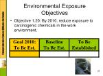 environmental exposure objectives5