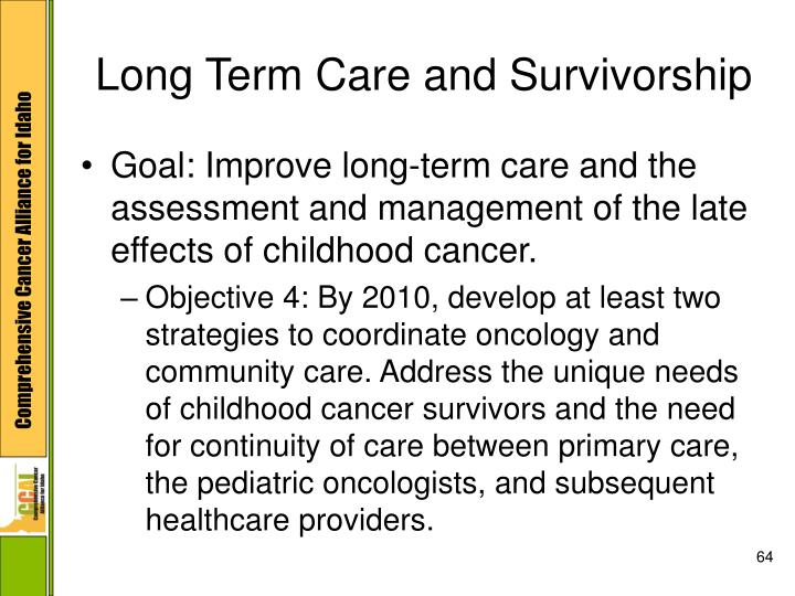Long Term Care and Survivorship