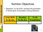 nutrition objectives2