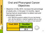oral and pharyngeal cancer objectives1